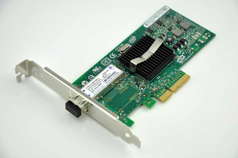 1000Mbps PCIe X4 NIC Card Server Adapter w/ SFP LX Single-mode Module EXPI9402PF Free Shipping expi9402pf single port dual mode server adapter 1000mbps well tested working one year warranty