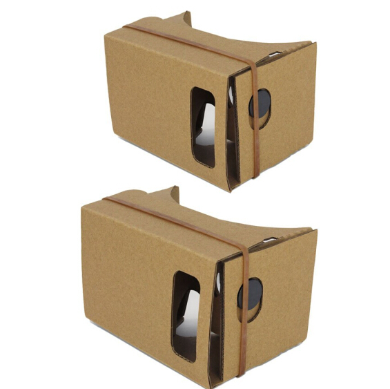 100pcs/pack Cardboard DIY kit virtual reality <font><b>viewer</b></font> 3D cardboard <font><b>glasses</b></font> with thick rubber band for <font><b>Smart</b></font> Phones