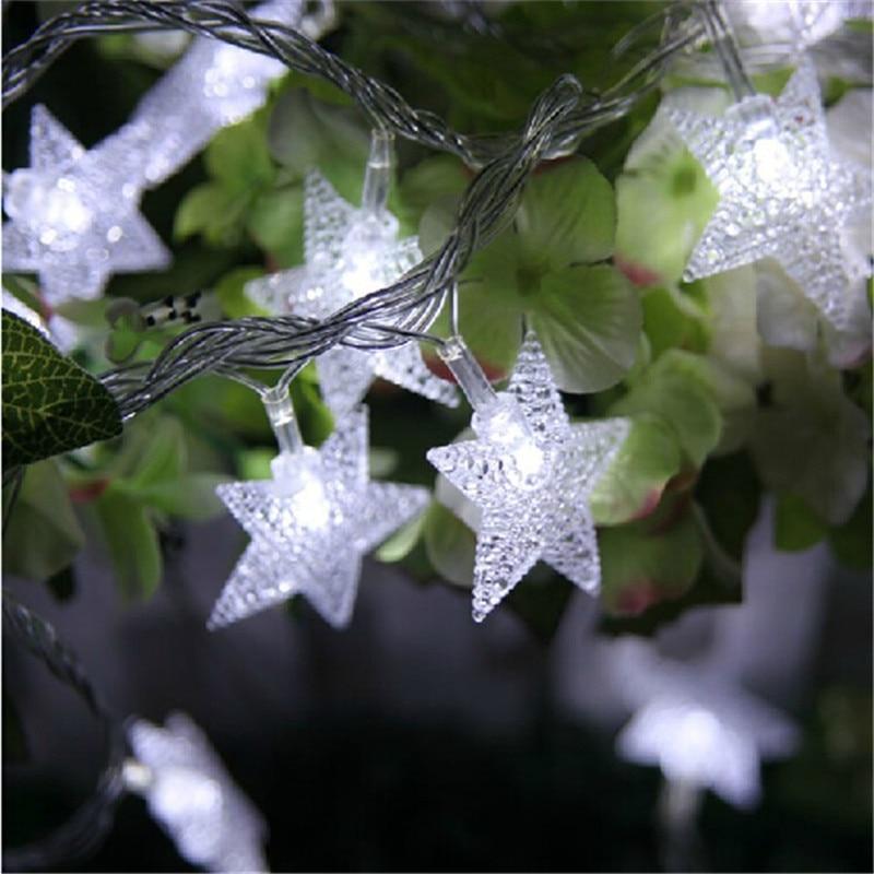 10M 50Led Lights Juletre Snø Stjernepærer Led String Fairy Lys Xmas - Ferie belysning - Bilde 2
