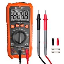 LOMVUM multimètre numérique NCV, 6000 mesures, gamme Auto, voltmètre AC/DC, lumière arrière, grand écran Ohm testeur