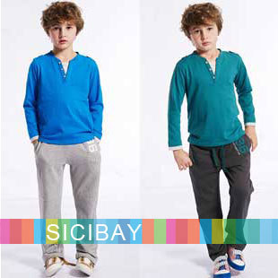 Free Shipping Leisure Clothing Boys Casual Pants Kids Cotton TrouserC0219