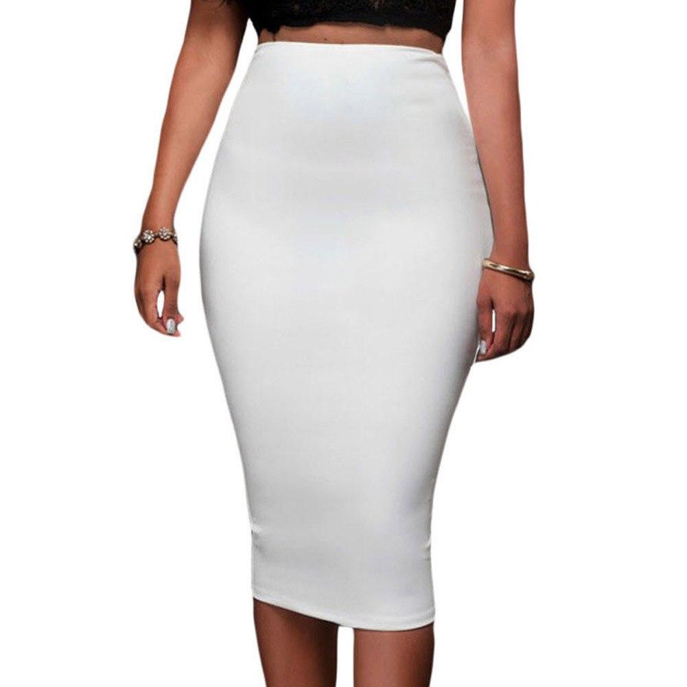 Женская белая юбка карандаш