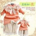 Anlencool 2014 frete grátis para crianças coreano girls dress saia dot baby dress roupas set roupas meninas do bebê da roupa do bebê