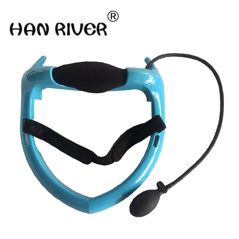 Pneumatic cervical vertebra tractor home health care instrument Neck posture pump Neck spine traction home tractor portable heal manual neck traction pillow pneumatic neck tractor massager inflatable cervical vertebra tractor for neck headache back pain 0