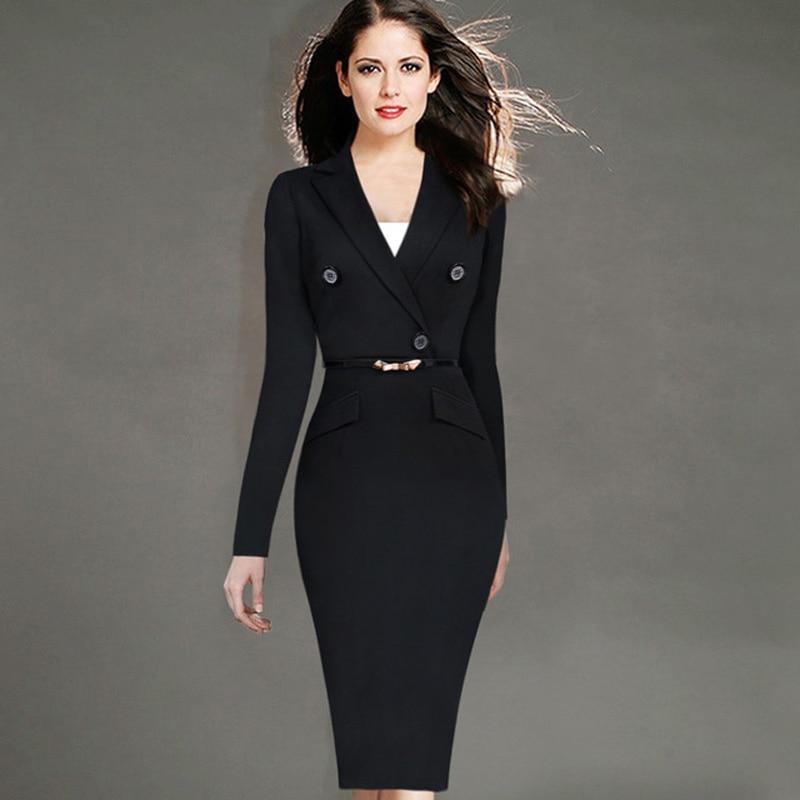 Womens Autumn Winter Dress Suits Elegant Business Suits ...