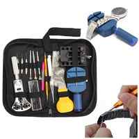 144pcs Repair Table Tools Watch Tools Clock Repair Tool Kit Opener Link Pin Remover Set Spring Bar Watchmaker Tools