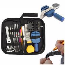 144pcs Repair Table Tools Watch Tools Clock Repair Tool Kit Opener Link Pin Remover Set Spring Bar Watchmaker Tools цена