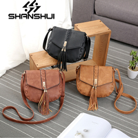 SHANSHUI 2018 New Vintage Casual Patchwork Women Flap Hotsale Ladies Shopping Handbag Small Shoulder Messenger Crossbody