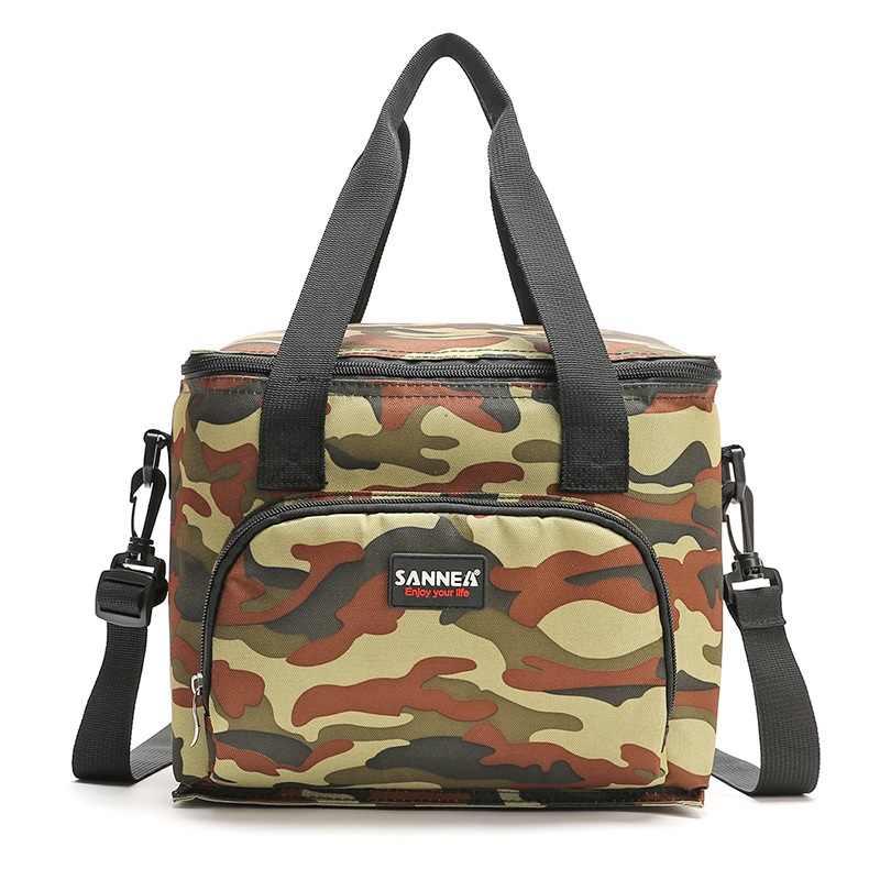 10L Camouflage Gedrukt koeltas koele geïsoleerde schoudertas picknick lunchbox ice pack draagbare thermische zakken voor voedsel fruit