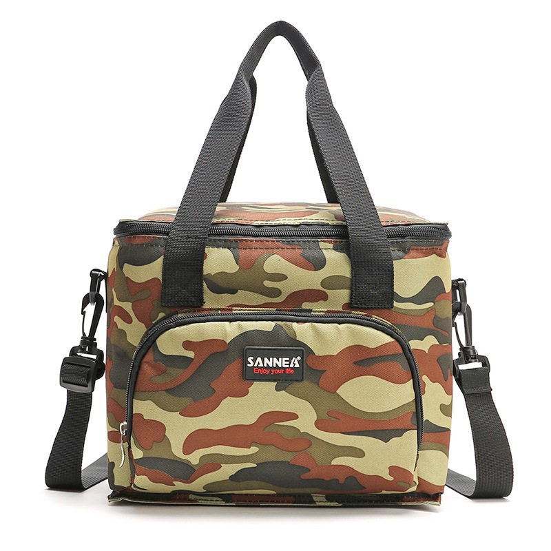 10L Camouflage Printed Cooler Bag Cool Insulated Shoulder Bag Picnic Lunch Box Ice Pack Portable Thermal Bags For Food Fruit