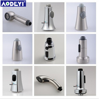 ABS Brushed Nickel Kitchen Faucet Sink Sprayer Pull Out Nozzle Spray Spout Shower Replacement Head
