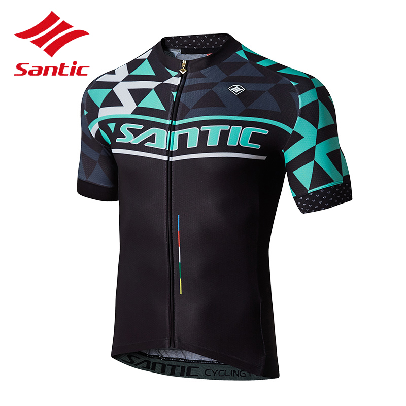 2018 Santic Men Cycling Jersey With Short Sleeve Bike Bicycle Jersey Breathable Sportswear Racing Downhill Clothes Ropa Ciclismo цена