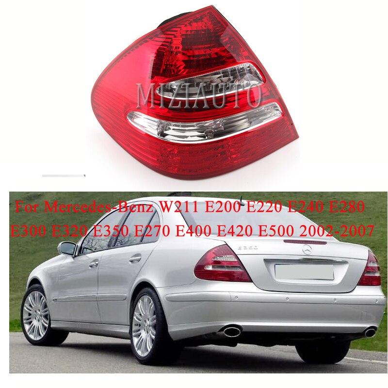 עבור מרצדס בנץ W211 E200 E220 E240 E280 E300 E320 E350 E270 E400 E420 E500 02-07 אחורי זנב אור חיצוני בלם מנורה אין הנורה