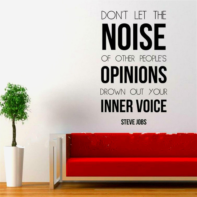 Steve Jobs Inspiring Quote Words Wall Sticker Home Office Deocr, Free  Shipping