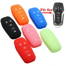 5 Color Silicone 5 Button Key Fob Cover For Ford Fusion for Mustang F-150 /Lincoln /MKZ /MKC