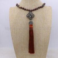 Kamień naturalny naszyjnik z rhinestone koraliki mix kolor kitki retro naszyjnik biżuteria naszyjnik dla kobiet 1372