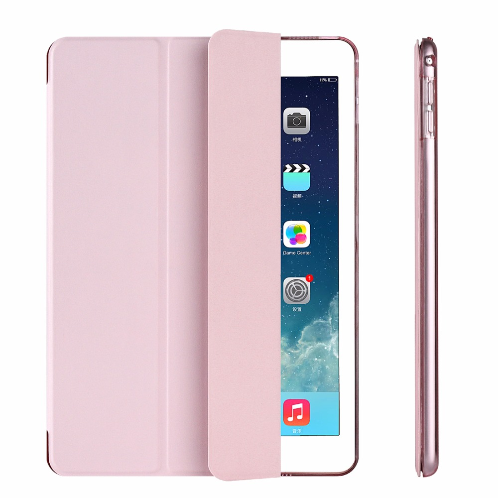 For iPad Mini 4 Case Clear Back Cover Flip PU Leather Case for Apple ipad Mini 4 Coque Cover Smart Stand Auto Sleep Wake UP ctrinews flip case for ipad air 2 smart stand pu leather case for ipad air 2 tablet protective case wake up sleep cover coque