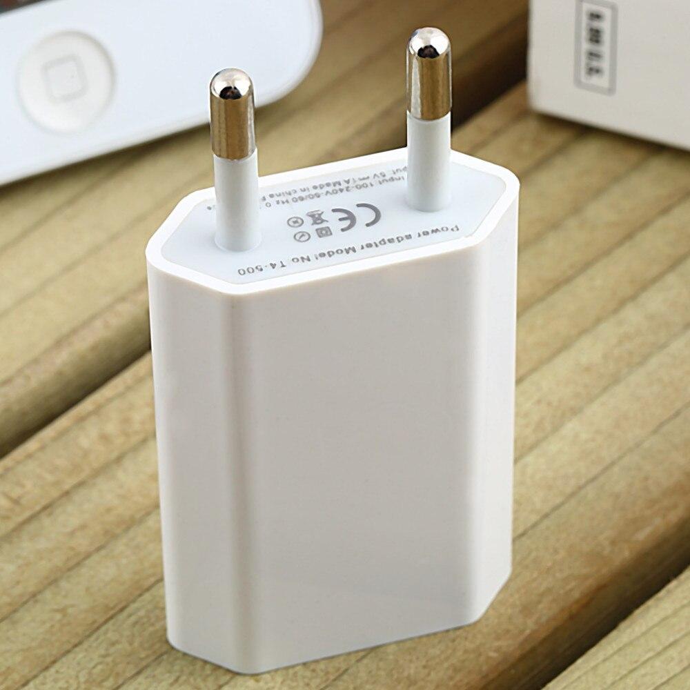 10 unids/lote 5 V 1a cargador de pared del teléfono móvil del recorrido del USB UE AC plug Adaptadores de corriente para el iPhone 4/4S /5/5S/6 s/6 más para sumsung htc