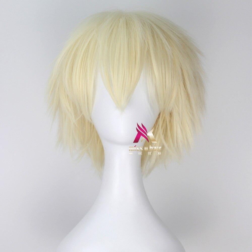 Bakugou Katsuki Wig Boku No Academia Cosplay Wig My Hero Academia Cosplay Hair Bakugou Katsuki Hair Gold