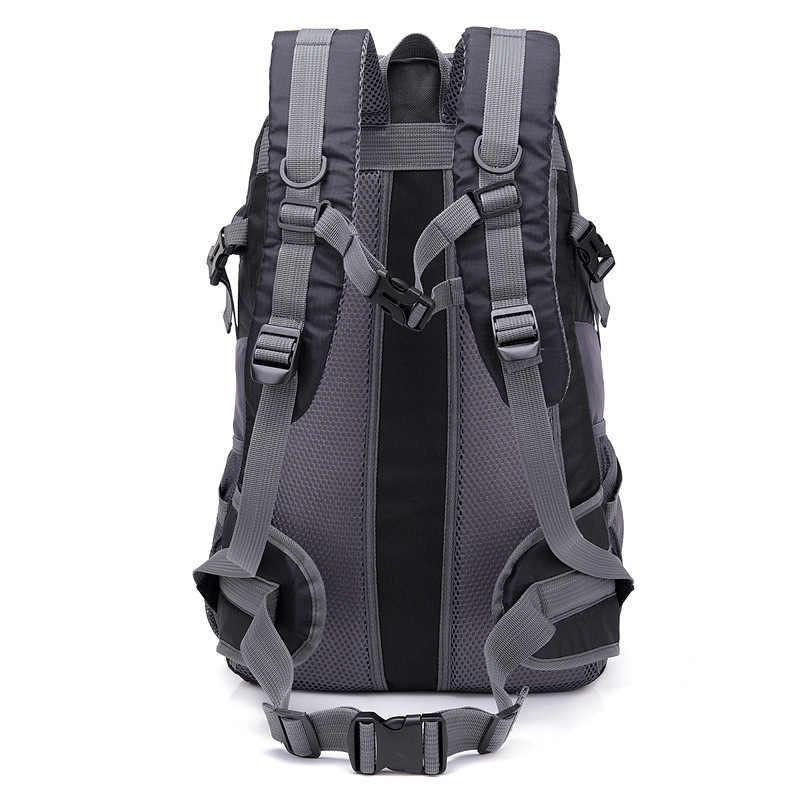 40L impermeable USB carga escalada Unisex hombre viaje hombres mochila hombres deportes al aire libre Camping senderismo mochila escuela