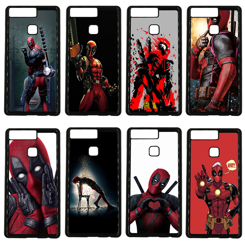 Cute Deadpool Fun Art Cell Phone Cases Hard Plastic Cover Protect for Huawei P10 P9 Plus P8 Lite P7 Mate 10 9 8 7 Pro Lite Shell