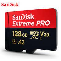 SanDisk-tarjeta de memoria Extreme Pro microSDHC/microSDXC, 32GB, 64GB, TF, 170 MB/s, 128GB, Class10, U3, A2, V30, nueva actualización