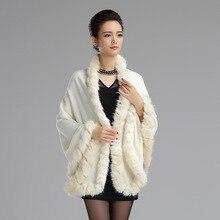 Women Faux Fur Sweater Overcoat Outwear New 2015 Winter Bat White Faux Fur Coat Faux Fur Stoles real fox fur vest