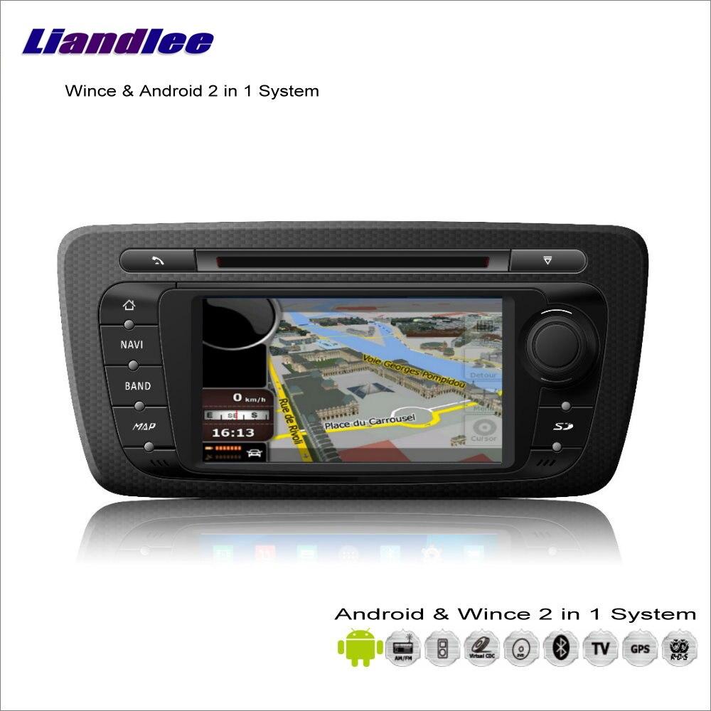 Liandlee автомобиля Android мультимедиа Системы для сиденья IBIZA MK4 2008 ~ 2013 Радио CD dvd плеер GPS Навигация Аудио Видео s160 Системы