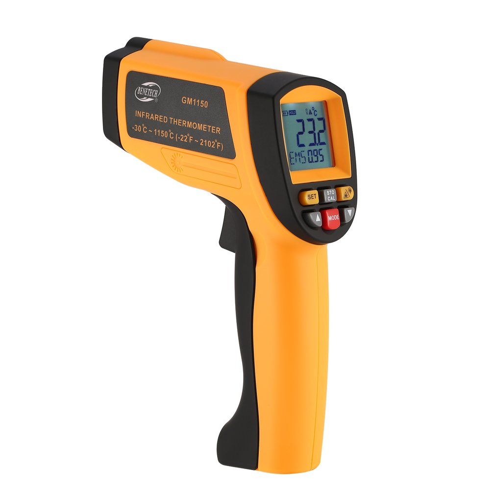 BENETECH 20:1 GM1150 Infrared Thermometer Non Contact Infrared Temperature Pyrometer IR Laser Point Gun -30~1150 Degree benetech gm1650 infrared thermometer non contact pyrometer ir laser point gun with backlight 200 1650 degree for industial use