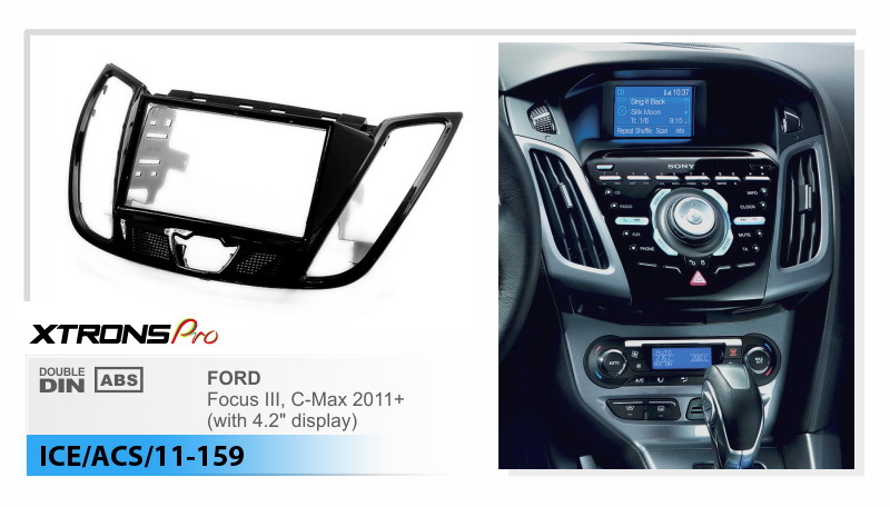 xtrons car radio fascia for ford focus iii c max 2011. Black Bedroom Furniture Sets. Home Design Ideas