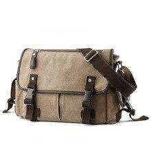 Купить с кэшбэком Men Retro messenger bags canvas big shoulder bag high quality Vintage men's travel bags