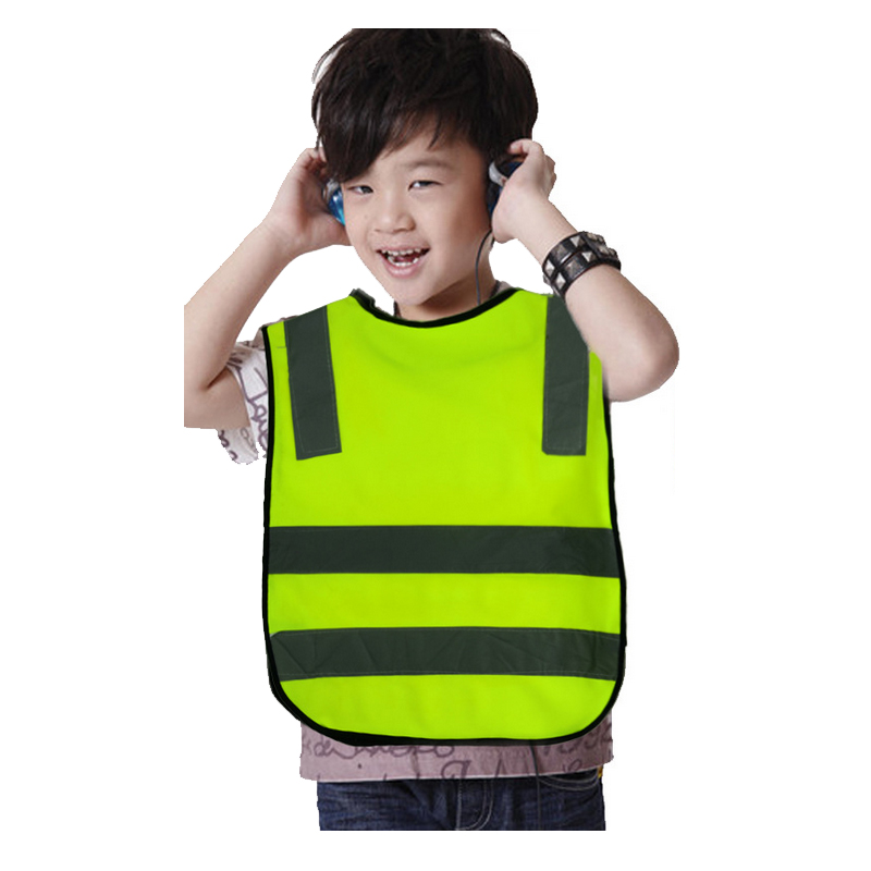 Free Shipping High Visibility Pupil Child Student Kid Reflective Traffic Vest Scooter Cycling Safety Vest Jacket