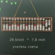 Большой Размер Китайский Soroban Abacus Инструментов Математического Образования для Учителей Китайский Калькулятор Висит Abacus Soroban Abacus Учение