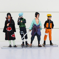 Naruto PVC Anime 17th Generation Naruto Model Toy Action Figure For Decoration Collection Gift 1set 12cm/4.7inch 4Pcs/set