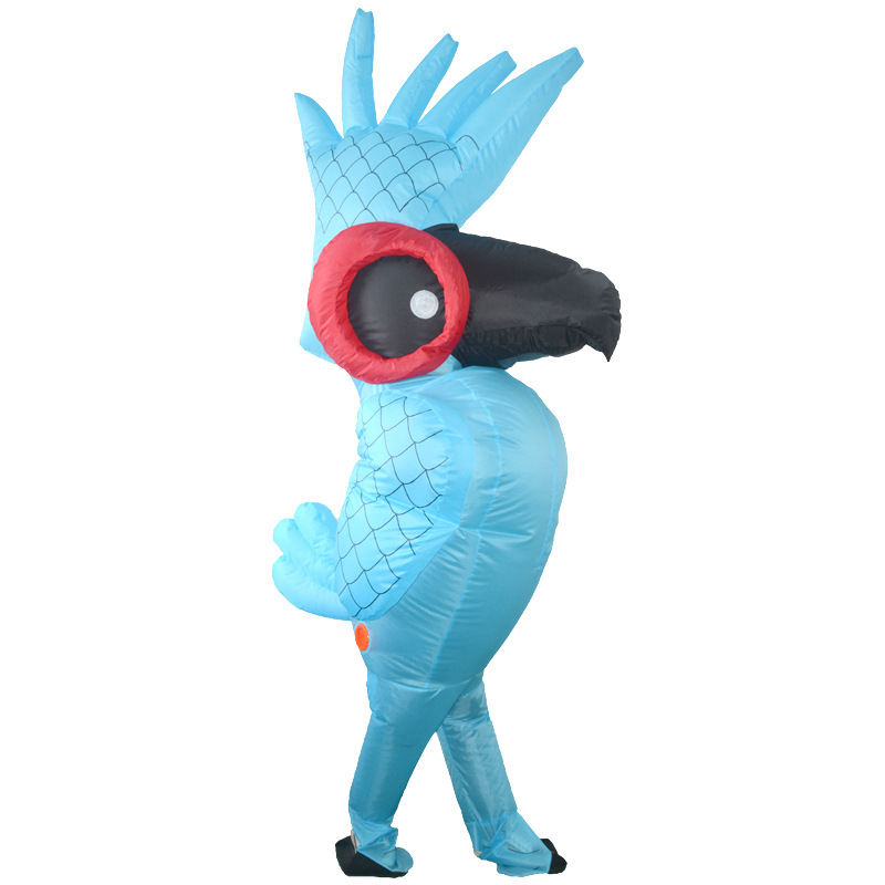 Adult Inflatable Rio Blue Parrot Bird Inflatable Cosplay Costume Party Animal Mascot Halloween Stage Club Fancy