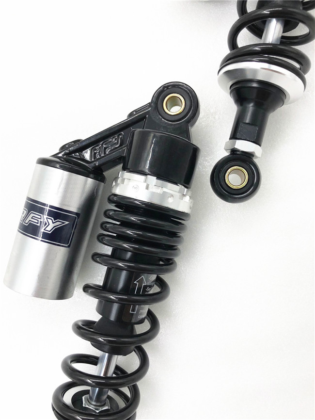 """RFY 1pair 11"""" 280mm motorcycle air shock absorber rear suspension for Yamaha Motor Scooter ATV Quad Black & silver-in Falling Protection from Automobiles & Motorcycles    3"""