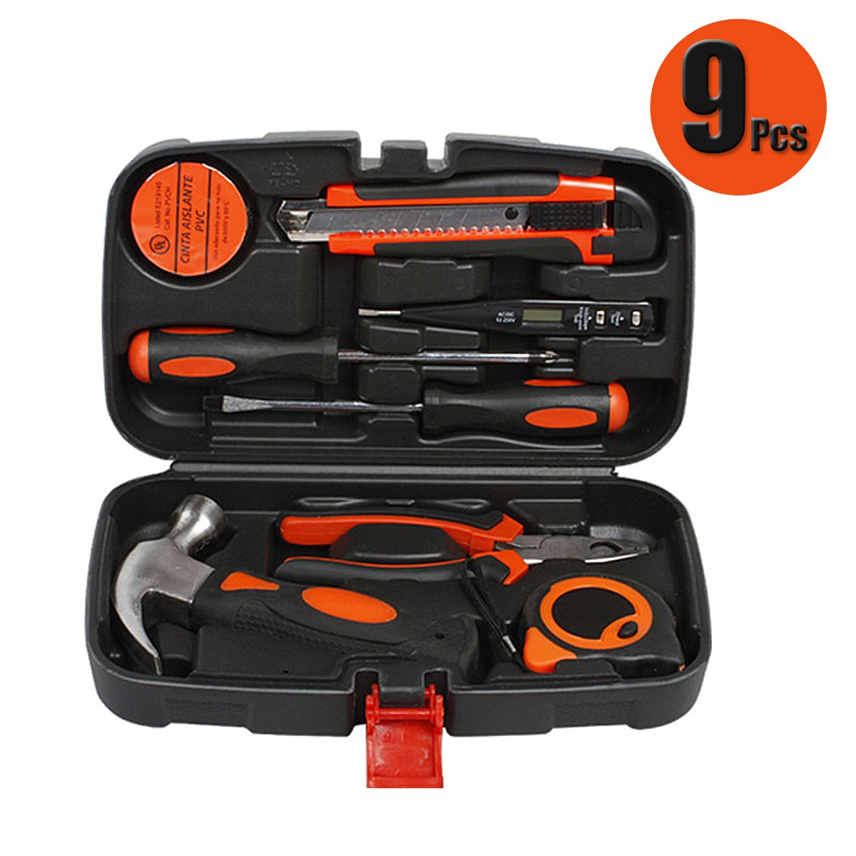 9Pcs Repair Hardware Instrumental Sets universal for Home Tool Kits Multi-functional Tool for Electrician 2018 100pcs maintenance repairing hardware instrumental sets robust lightweight multifunctional hand tools kits fast delivery