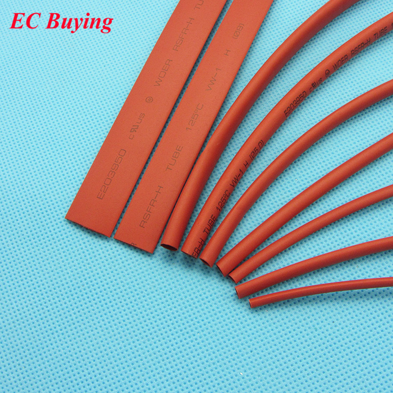 1meter/pcs Heat Shrink Tubing Tube 2:1 Black Yellow Red Transparent Color 2mm 2.5mm 3mm 3.5mm 4mm 5mm 6mm 8mm 10mm Insulation