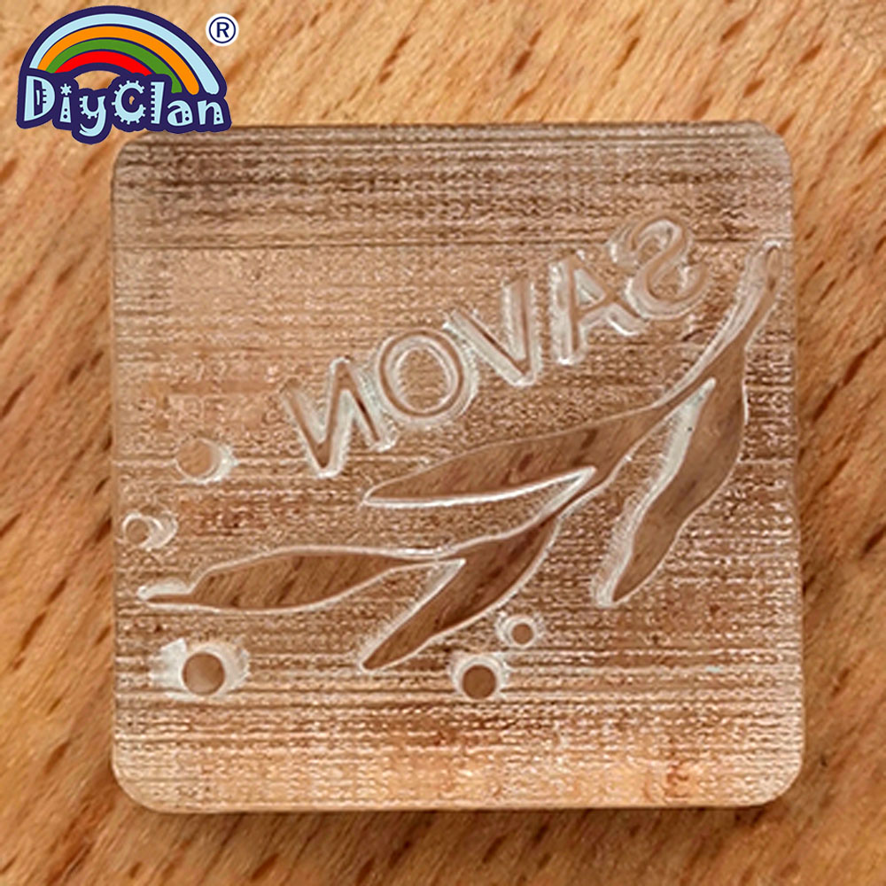 Savon Natural Soap Handmade Stamp Mold Branch Clear Diy Natural Organic Glass Soap Making Seal Resin Acrylic Chapter3Z0287YZ in Stamps from Home Garden