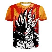 Camisetas de Dragon Ball Z para hombre verano moda 3D estampado Super Saiyajin Son Goku negro Zamasu Vegeta Dragon camiseta Tops