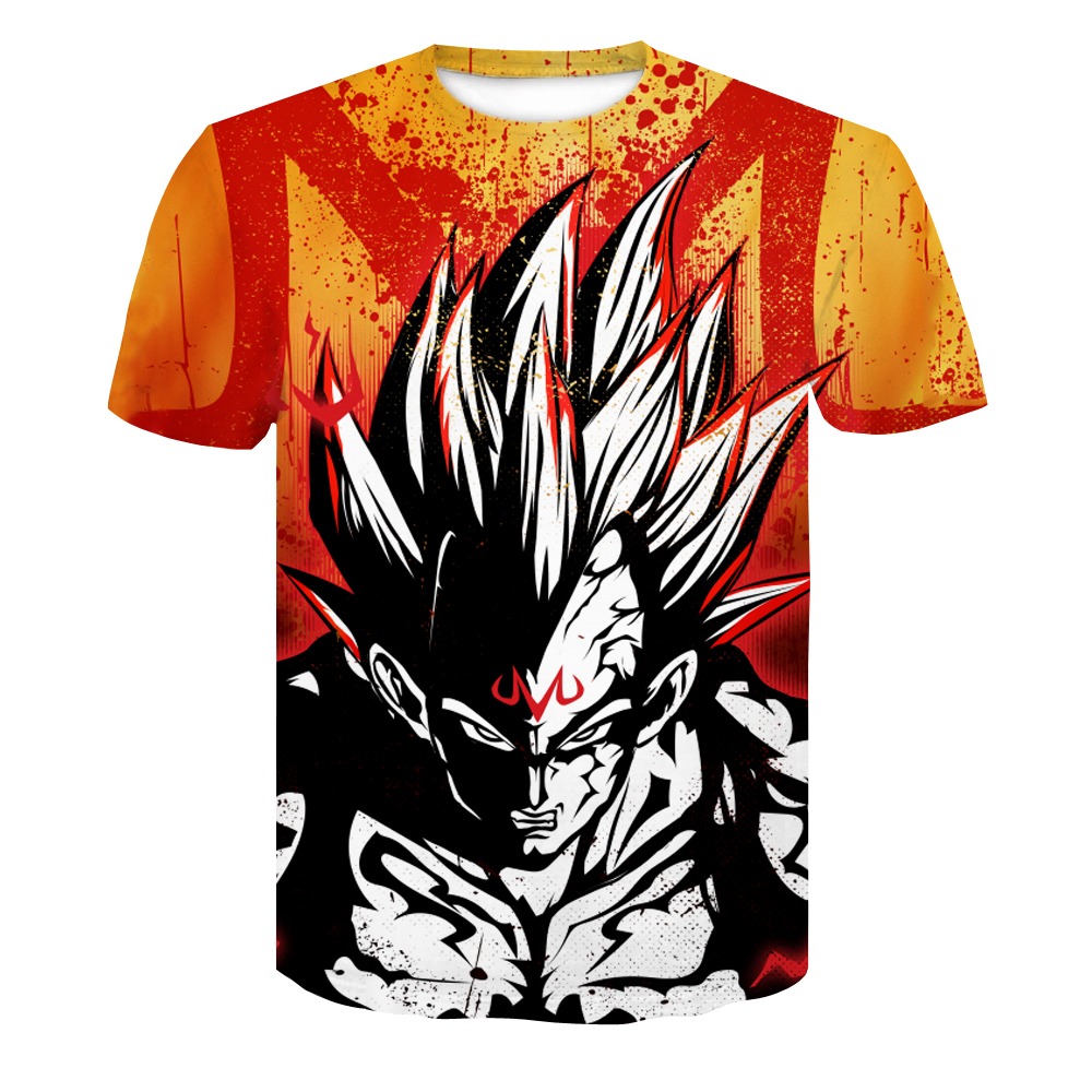 Dragon Ball Z T-shirts Herre Summer Fashion 3D Print Super Saiyajin - Herretøj - Foto 6