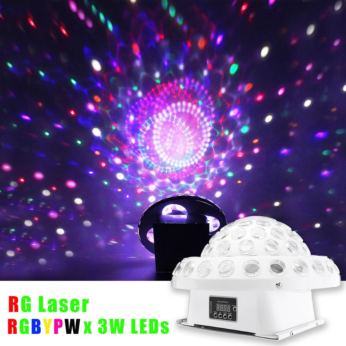 Big LED Magic Crystal Ball RGB Stage Lighting Effect DMX Remote Control Laser Light Night Lamp Disco DJ Club Bar KTV Party Decor laideyi 36 rgb led stage light effect laser party disco dj bar effect up lighting dmx projection lamp ktv party light