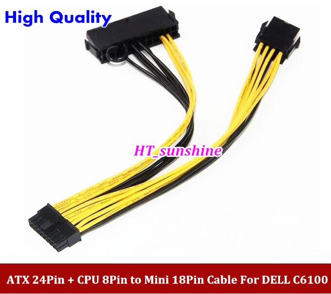 High Quality  Mini 18Pin Adapter Cable With Switch for Dell C6100 Motherboard L5639 L5520 --60PCS/LOT 5pcs lot high quality 2 pin snap in on off position snap boat button switch 12v 110v 250v t1405 p0 5