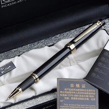 Pimio 917 Luxury Black With Golden Clip Roller ball Pen With Original Gift Case 0.5 mm Black Ink Refill Ballpoint Pens