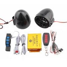 Motocicleta Do Bluetooth MP3 Music Player Moto Alarme Anti-roubo Controle Remoto do Sistema De Segurança de Proteção de Áudio de Rádio FM USB TF cartão