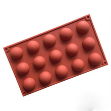 15 Holes Ball silicone mold cake pastry baking round shape soap Jelly pudding ice mould chocolate candy fondant forms