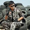 DOMAN Mens Al Aire Libre Táctico Caza Ropa de Camuflaje Unfiroms Trajes para Mujeres de Los Hombres Del Ejército Militar CS Combat Jacket + Pants Conjuntos