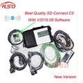 Wi-fi MB STAR C5 Xentry Диагностика Инструмент с 16-09 Программное Обеспечение Vediamo SD Соединяет Компакт 5 Беспроводной Диагностики Авто диагностический инструмент