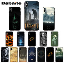 The Lord Of The Rings The Hobbit Silikon Lembut Hitam Ponsel Case untuk iPhone X XS MAX 8 7 6S PLUS 5S SE XR Ponsel Babaite(China)