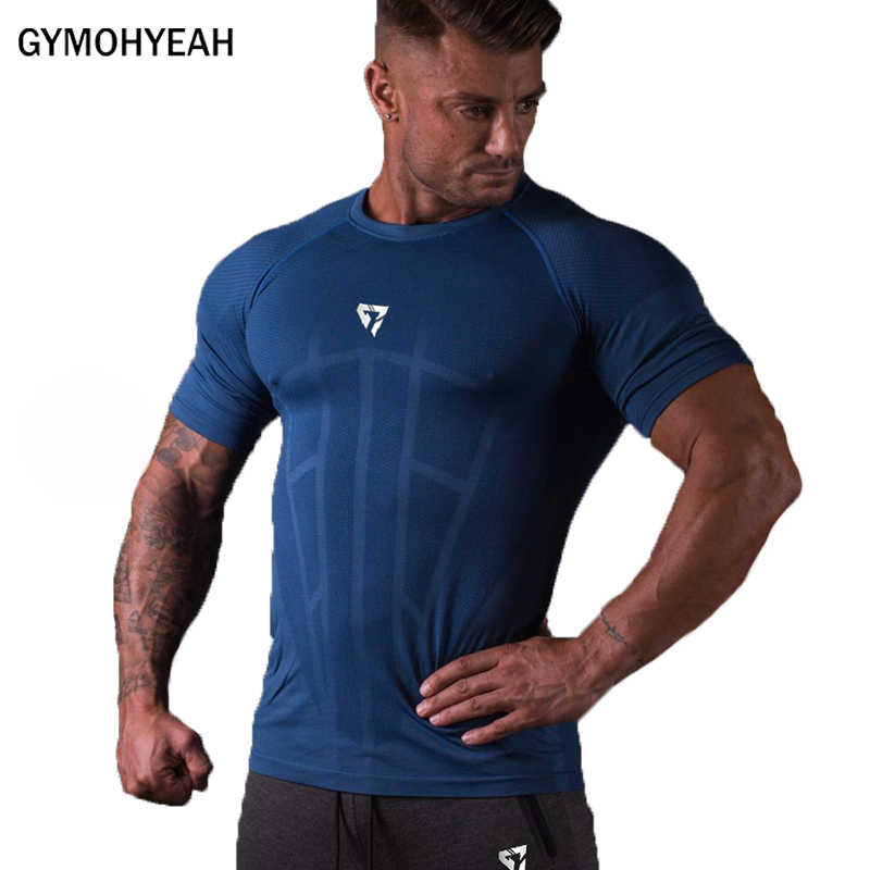 New Compression   T  -  shirt   Men Quick drying Jogger Sporting Skinny Tee   Shirt   Male Gyms Fitness Bodybuilding Workout Tops Clothing